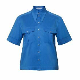 DIANA ARNO - April Short-Sleeved Blouse In Royal Blue