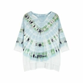 RAQUEL ALLEGRA Cocoon Blue Tie-dyed Cotton Top