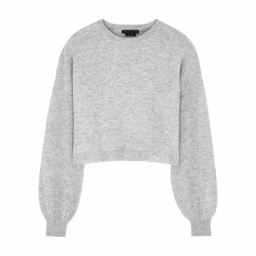 Alice + Olivia Ansley Light Grey Cashmere Jumper