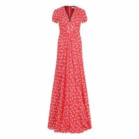 Libelula - Long Jessie Dress Red Hiawatha Print