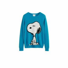 Chinti & Parker Turquoise Classic Snoopy Wool-cashmere Sweater
