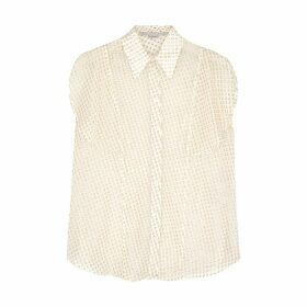 Stella McCartney Kristina Fil Coupé Chiffon Shirt