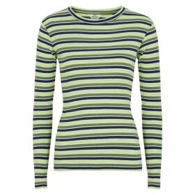 Mads Nørgaard Tuba Striped Ribbed Cotton Top
