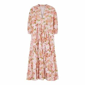 ByTiMo Light Pink Floral Cotton Dress
