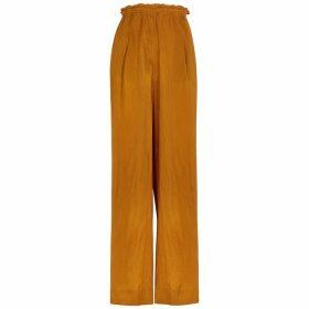 Forte forte Bronze Wide-leg Silk Trousers