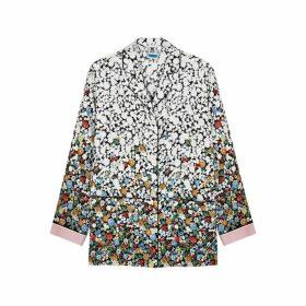 M Missoni Floral-print Silk Shirt