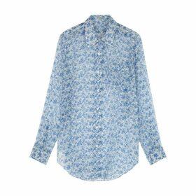 Acne Studios Sophi Floral-print Silk-georgette Shirt