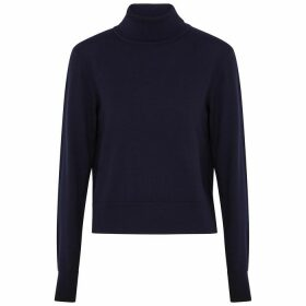 THE ROW Chanic Navy Wool-blend Jumper