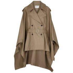 Mark Kenly Domino Tan Clarisse Stone Belted Twill Cape