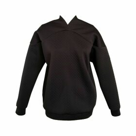 NOT - Black Bubble Neoprene Curved Yoke Sweater