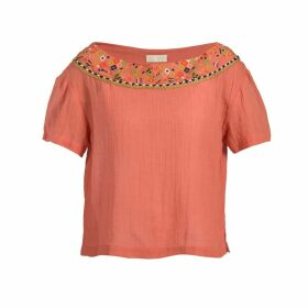 Souk Indigo - Maya Embroidered Gauze Blouse