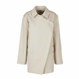 A-line Clothing - Desert Nude Straight Fit Side Bars Blazer