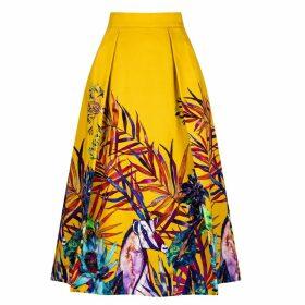 Sika'a - Savannah African Print Midi Skirt