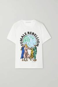 Stella McCartney - International Women's Day Printed Cotton-jersey T-shirt - White