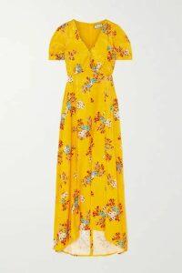 Paul & Joe - Floral-print Satin-jacquard Maxi Dress - Saffron