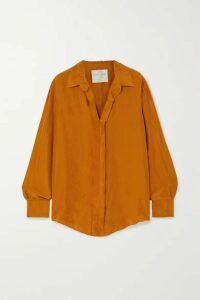 forte forte - Crinkled Silk-habotai Shirt - Tan