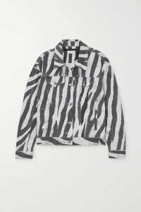 Ksubi - Static Oversized Zebra-print Denim Jacket - Black