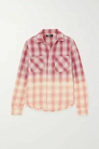 AMIRI - Ombré Metallic Plaid Cotton-flannel Shirt - Red