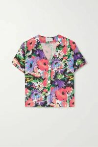 Art Dealer - Olivia Floral-print Silk-blend Shirt - Purple