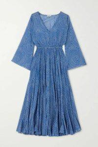 Rhode - Emily Printed Cotton-voile Midi Dress - Blue