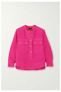Isabel Marant - Tecoyo Silk-tweed Shirt - Fuchsia