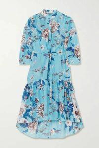 Diane von Furstenberg - Brooklynn Tiered Floral-print Voile Midi Dress - Blue