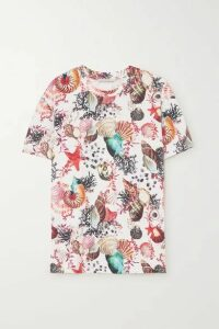 Mary Katrantzou - Tierny Printed Cotton-jersey T-shirt - Orange