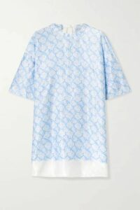 By Malene Birger - Sika Floral-print Satin Tunic - Blue