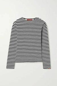 Denimist - Striped Cotton-jersey Top - Black