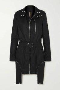 Rick Owens - Abito Asymmetric Cotton Jacket - Black