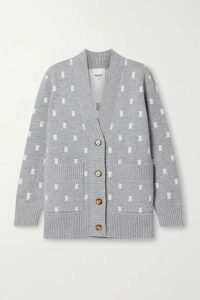 Burberry - Jacquard-knit Cardigan - Gray