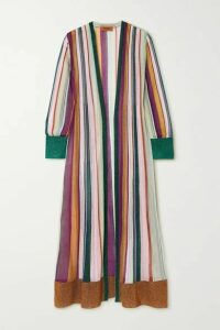 Missoni - Metallic Striped Crochet-knit Cardigan - Purple