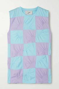 Coperni - Two-tone Patchwork Cotton-jersey Top - Blue
