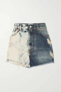 Givenchy - Distressed Tie-dyed Denim Shorts - Blue