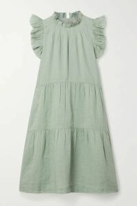 Sea - Lucy Tiered Ruffled Ramie Dress - Mint