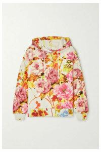 Dries Van Noten - Herlee Floral-print Cotton-jersey Hoodie - Ecru