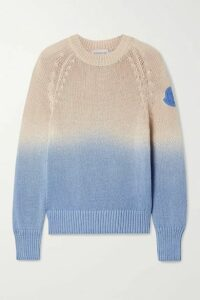 Moncler - Ombré Open-knit Cotton Sweater - Sand