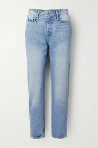 GRLFRND - Devon High-rise Straight-leg Jeans - Blue