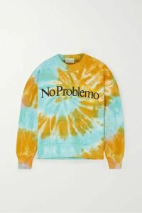Aries - Printed Tie-dyed Cotton-jersey Sweatshirt - Orange