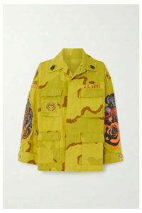 R13 - Overdyed Surplus Printed Cotton-blend Jacket - Yellow