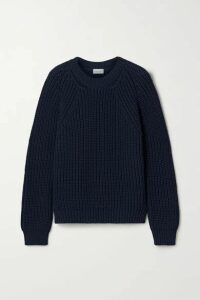 By Malene Birger - Mea Ribbed Cotton-blend Sweater - Navy