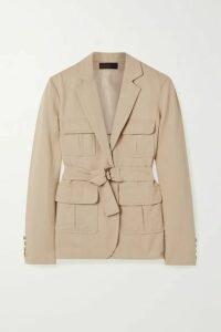 Nili Lotan - Hunt Belted Twill Jacket - Beige