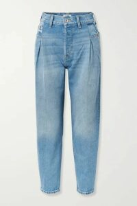RE/DONE - 40s Zoot Pleated High-rise Tapered Jeans - Blue
