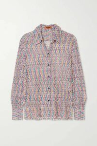 Missoni - Crochet-knit Shirt - Pastel pink