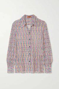 Missoni - Crochet-knit Shirt - Pastel pink