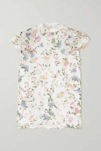 Erdem - Opal Ruffled Printed Silk-voile Blouse - White
