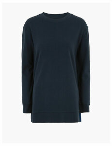 M&S Collection Pure Cotton Longline Sweatshirt