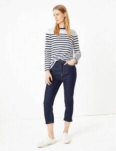 M&S Collection Supersoft High Waisted Skinny Cropped Jeans