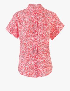 M&S Collection Pure Linen Ditsy Floral Shirt