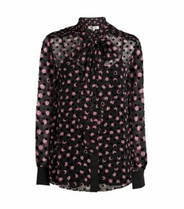 DVF Diane von Furstenberg Minnie Tie-Neck Top